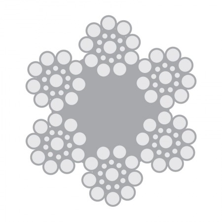 Cabo de Aço Classe 6×19 Seale 1+9+9 alma de fibra – Polido e Galvanizado