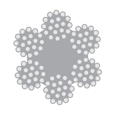Cabo de Aço Classe 6×25 Filler alma de fibra – Polido e Galvanizado