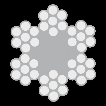 Cabo de Aço Classe 6X7 alma de fibra – Polido e Galvanizado
