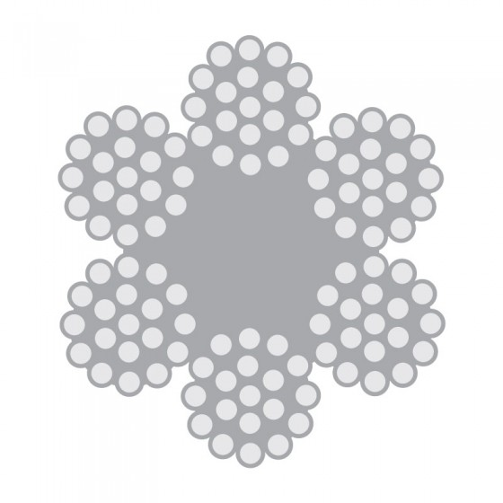 Cabo de Aço Classe 6×19 alma de fibra – Polido e Galvanizado