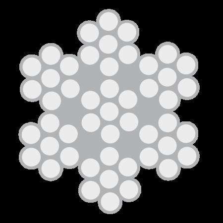 Cabo de Aço Classe 6X7 alma de aço – Polido e Galvanizado