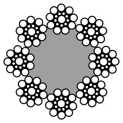 Cabo de Aço 8×19 Seale 1+9+9